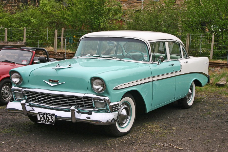 1956 chevrolet cars » File Chevrolet Bel Air 1956 4door Sedan front jpg   Wikimedia Commons File Chevrolet Bel Air 1956 4door Sedan front jpg