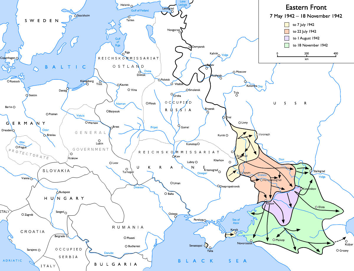 L'avancée allemande vers le Caucase - Wikicommons