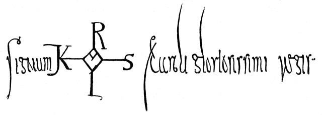 Signum KAROLVS Caroli gloriosissimi regis