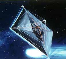 English: Artist's conception of a solar sail