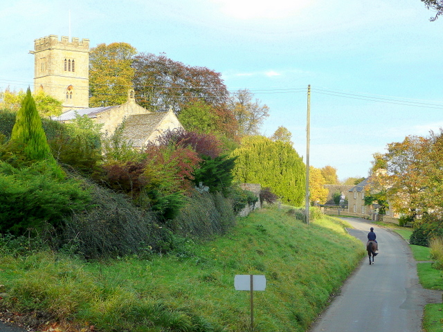 Lane through Buckland, Gloucestershire