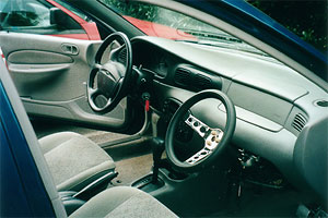 English: Dual controls for student driver cars...