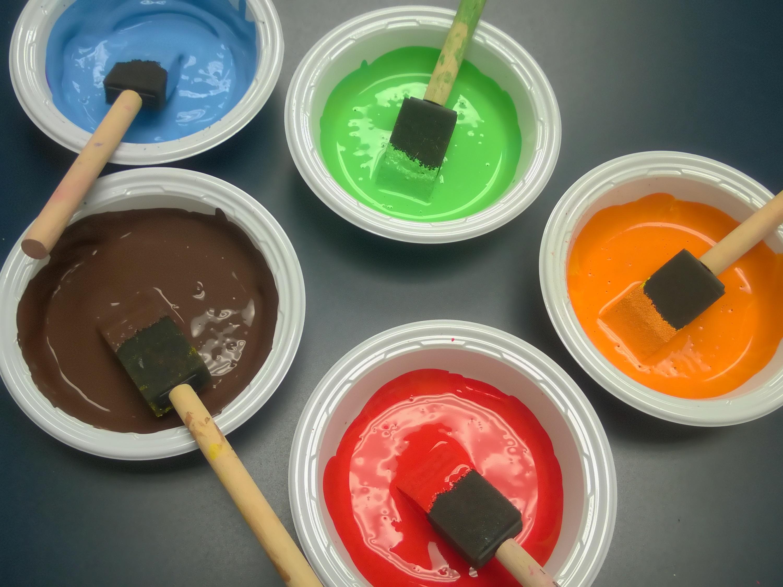 File Multicolored Tempera Paints
