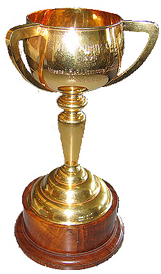 The 1976 cup that was won by Van Der Hum.
