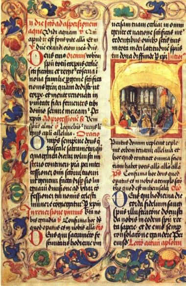 Rubrics in an illuminated gradual of King John Albert, circa 1500 (Wikipedia)