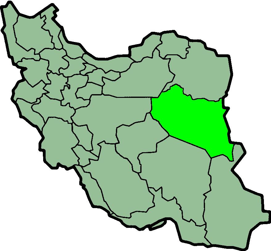 استان خراسان جنوبی بر روی نقشه ایران