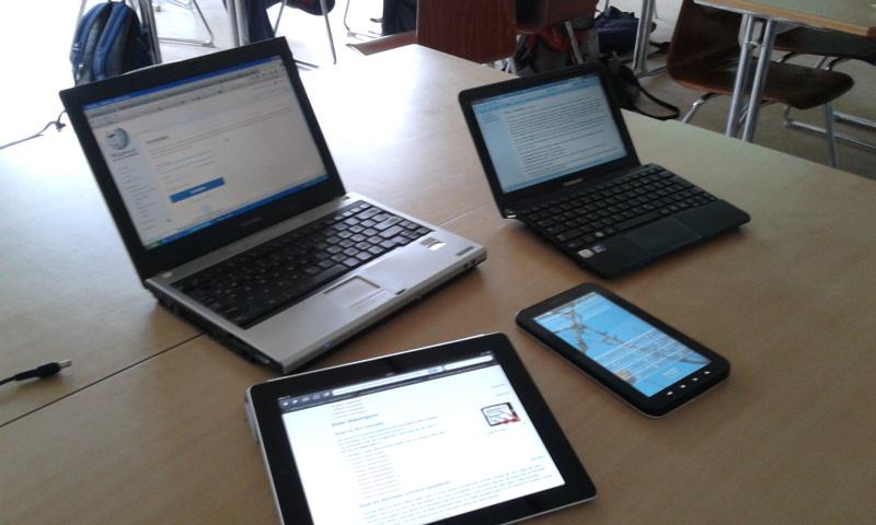 Dispositivos móviles.