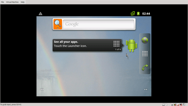 Android on vmware player jobin raju george1.png