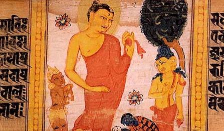 File:Astasahasrika Prajnaparamita Descending Trayastrimsa Heaven.jpg