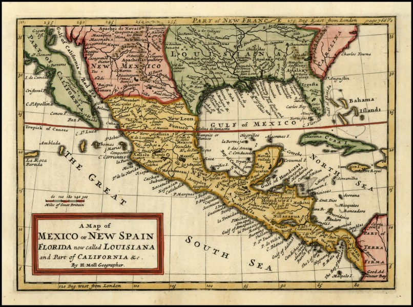 File A Map of Mexico or New Spain  Florida now called Louisiana and     File A Map of Mexico or New Spain  Florida now called Louisiana and Part