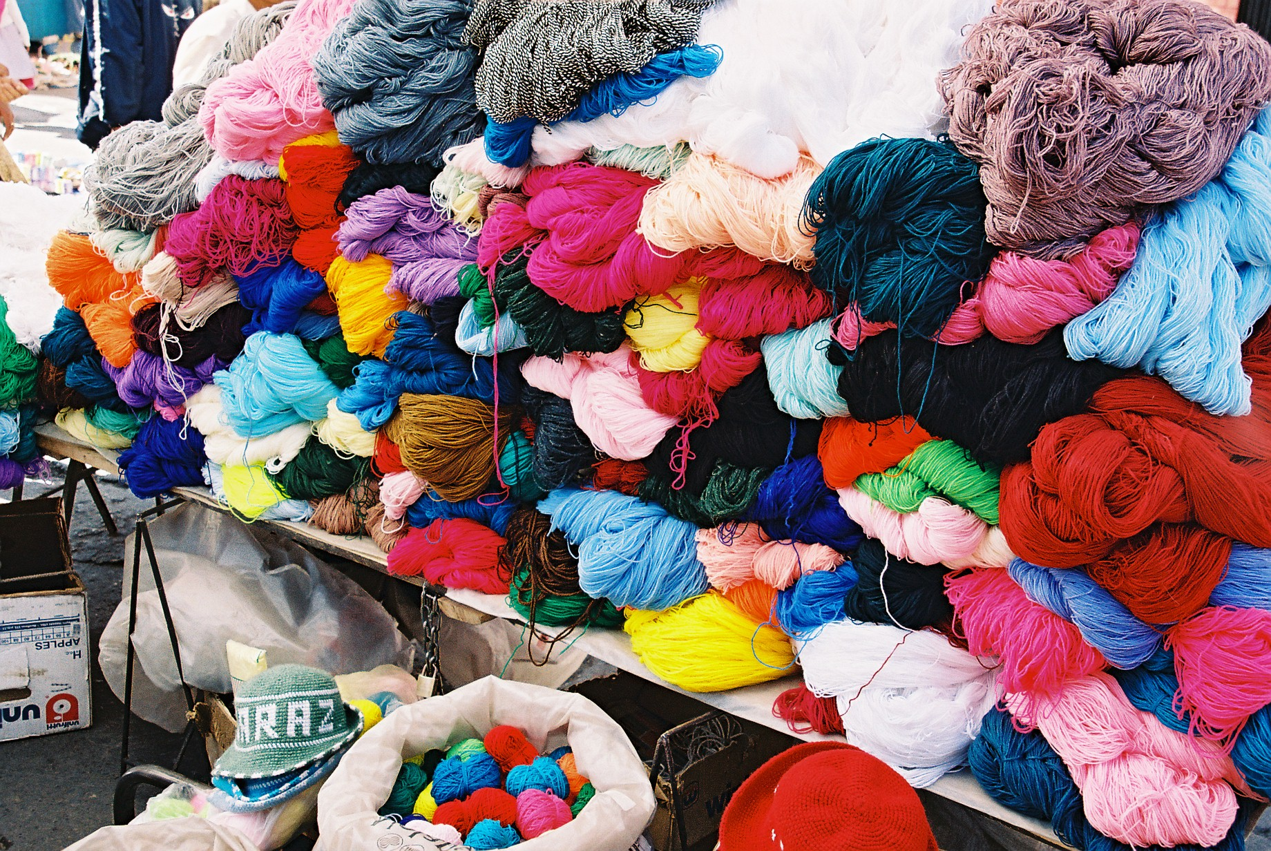 Coloured wool