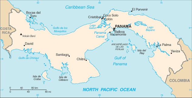 Bản đồ Panama