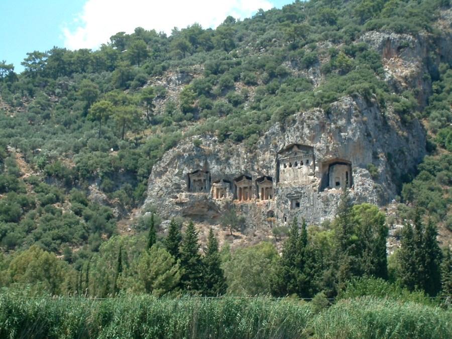 Lycian tombs near Köyceğiz