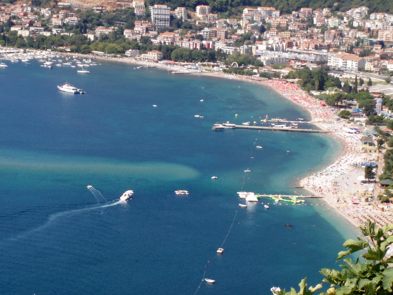 Slovenian Beach in Budva, Montenegro