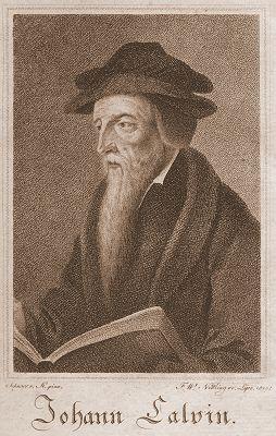 English: John Calvin Deutsch: Maße: 10,9 x 7,8...