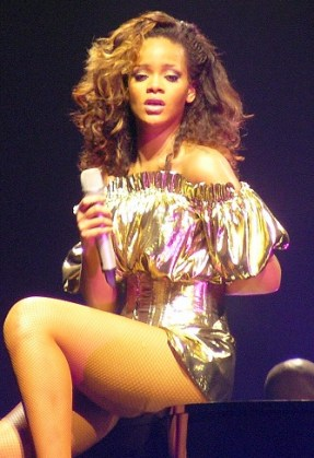 English: Rihanna live in Belfast, on her tour ...