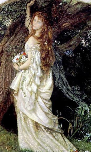 Ophelia (And he will not come back again) by Arthur Hughes