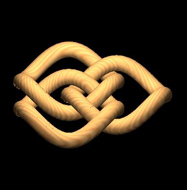 Représentation d'anneaux borroméens vus de pro...