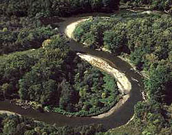 The Cuyahoga River in the Cuyahoga Valley Nati...