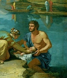 Moses rescued from the Nile (detail) by Nicola...