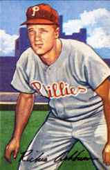 English: Richie Ashburn of the Philadelphia Ph...