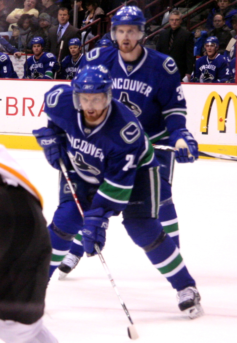 By Iwona Erskine-Kellie from Vancouver, British Columbia, Canada (Daniel & Henrik Sedin) [CC-BY-2.0 (www.creativecommons.org/licenses/by/2.0)], via Wikimedia Commons