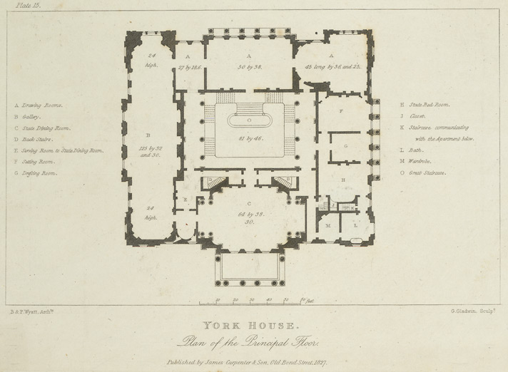 Lancaster House layout from Wikipedia