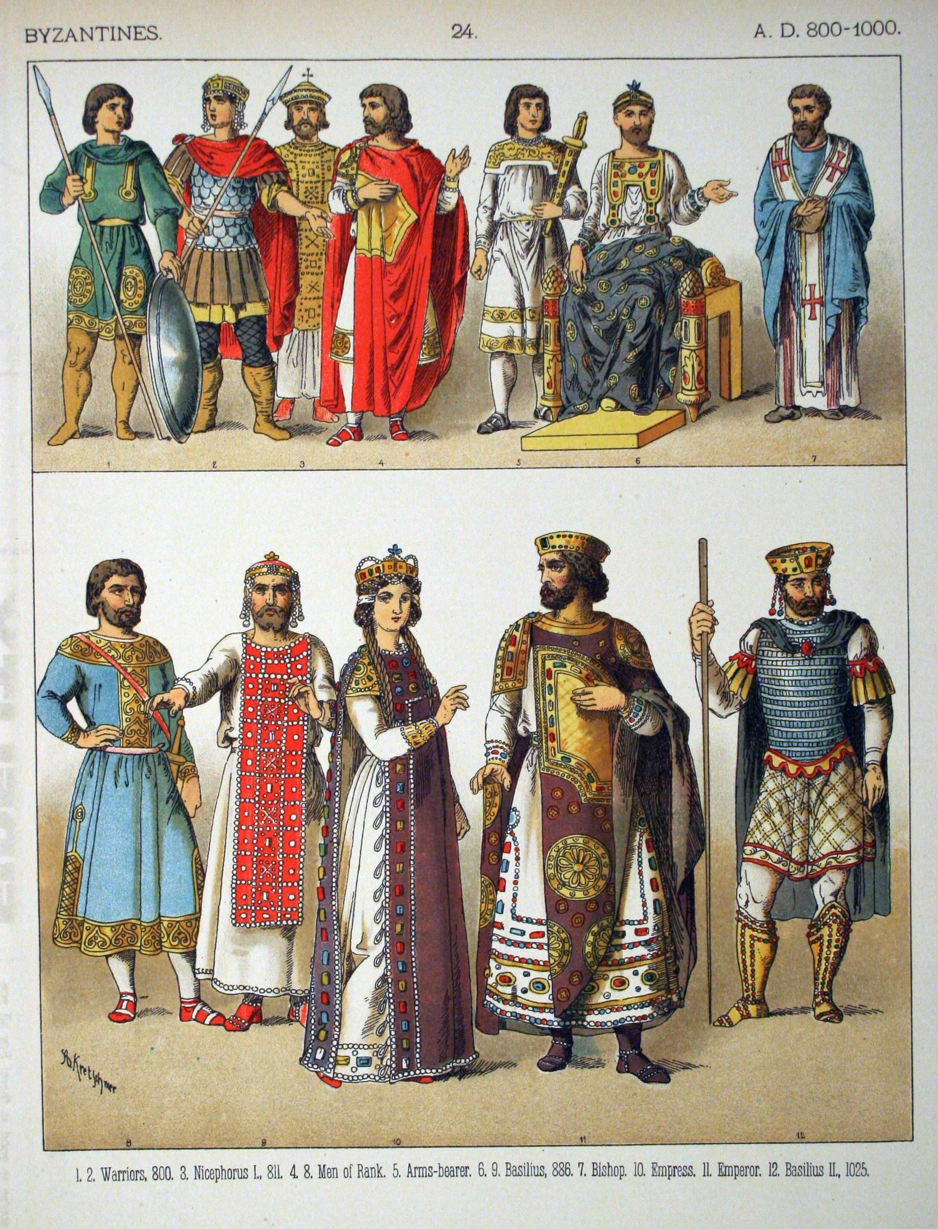 ビザンツ帝國の服飾 : 畫像で見るざっくり西洋ファッションの歴史【男性編】 - NAVER まとめ