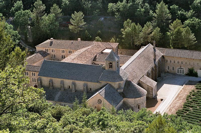 The Romanesque Sénanque Abbey church and surro...
