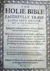 English: Old Testament - Douay Bible - 1609 - ...