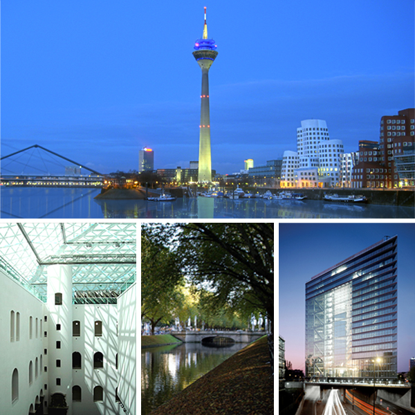 Dusseldorf - the capital of the federal state of North Rhine - Westphalia state government and residence of district Dusseldorf.