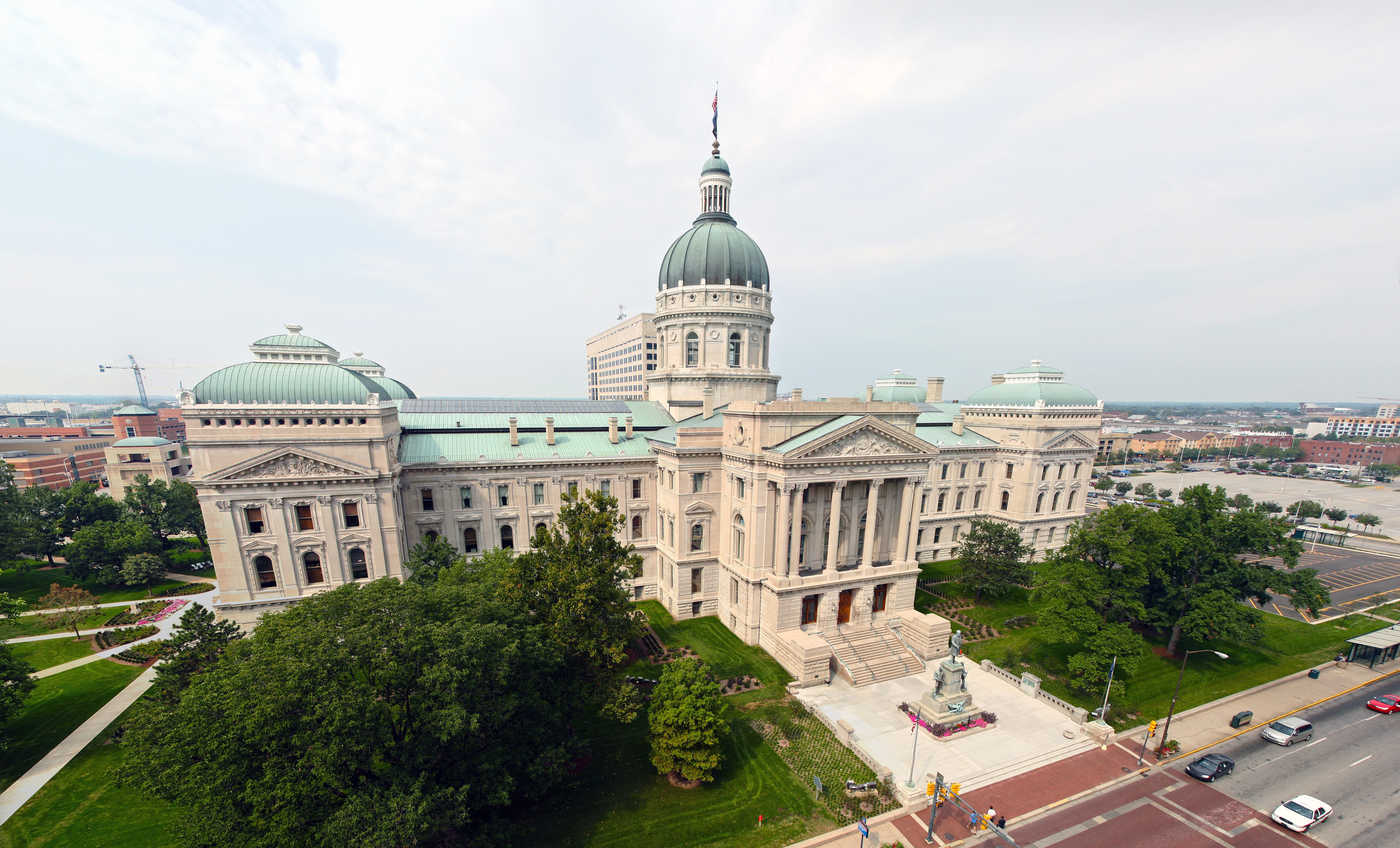 File Indiana State Capitol Rect Pano