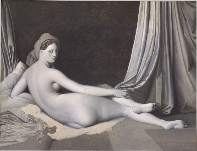 Ingres' Odalisque in Grisaille