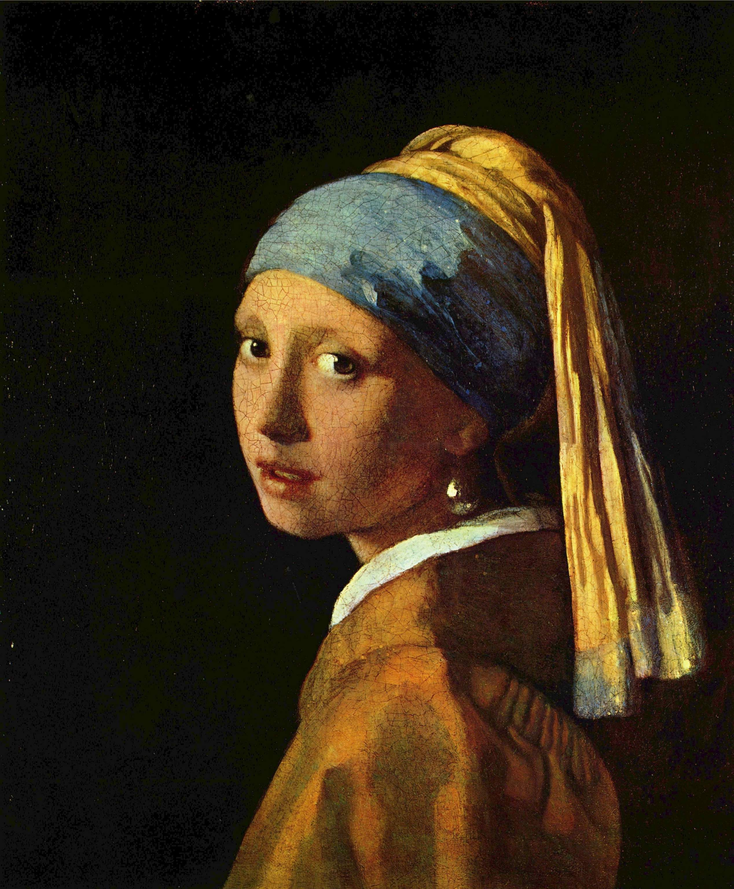 Girl with a pearl earring.  Johannes Vermeer, Circa 1665 - 1675