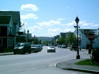 A shot of Downtown Fort Kent