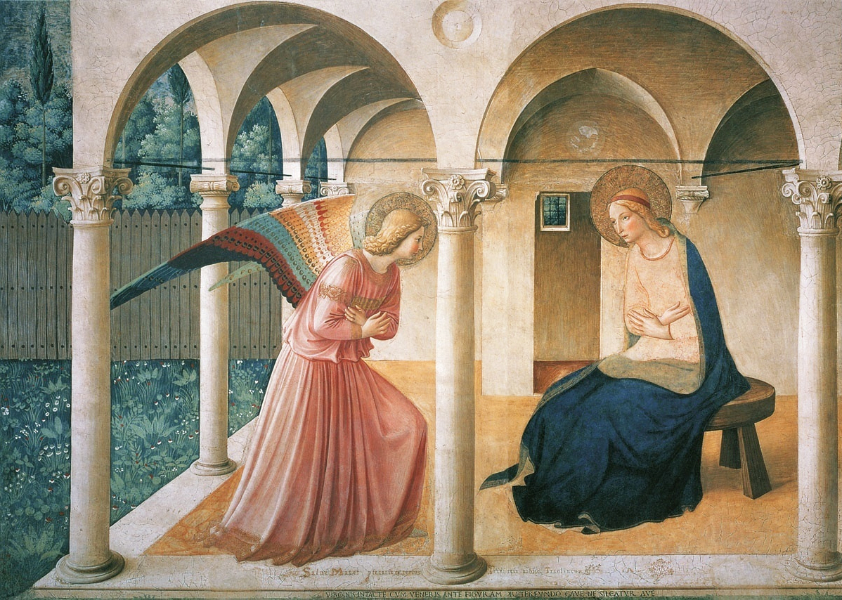 The Annunciation by Fra Angelico from Wikipedia