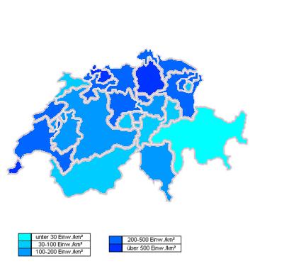 Switzerland Cantons Map