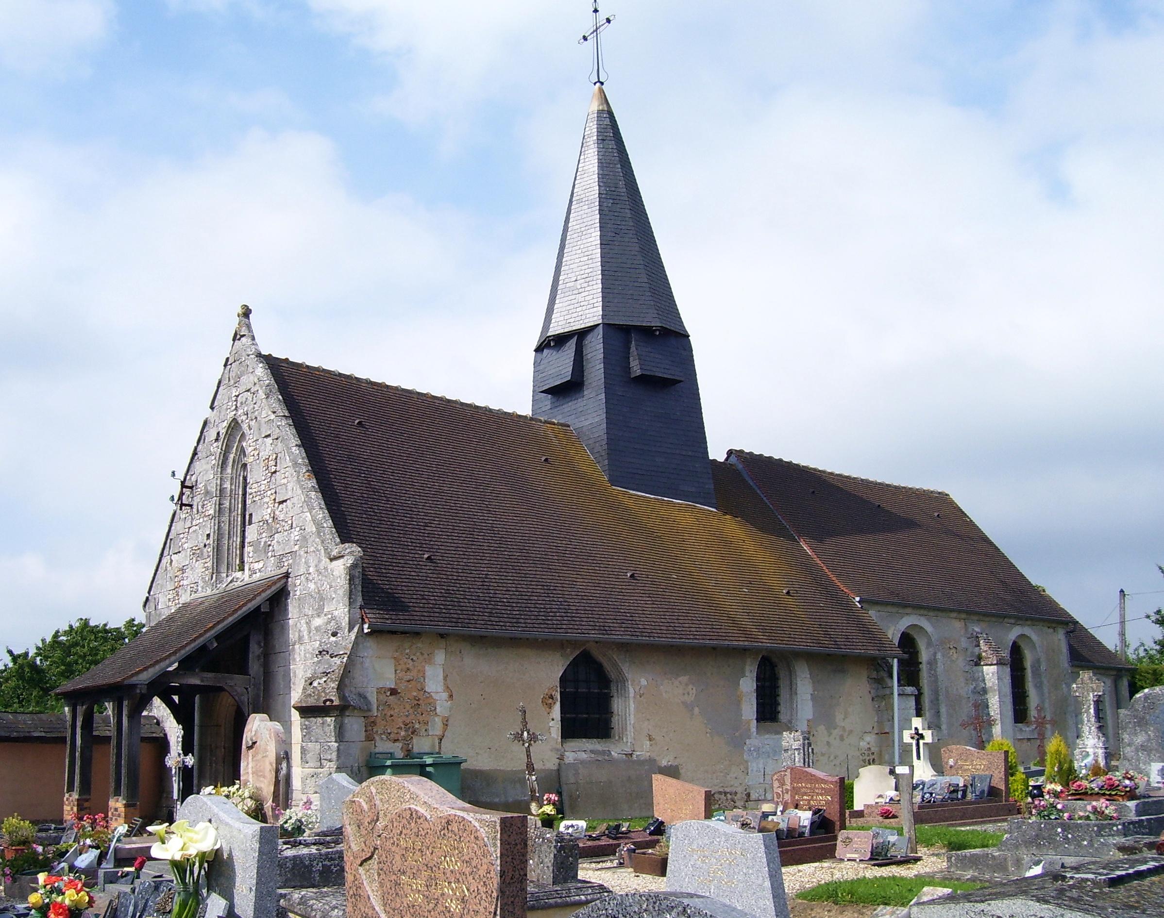 die Église Notre-Dame in Franqueville, eigenes Foto, Lizenz:public domain/gemeinfrei