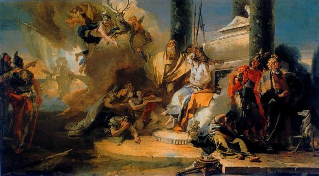 Resultado de imagen de tiepolo the sacrifice of iphigenia 1770