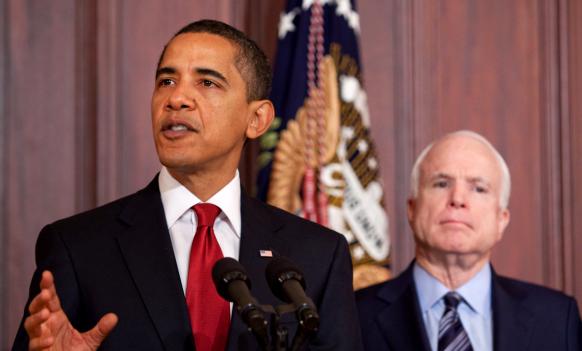 President Barack Obama and Senator John McCain...