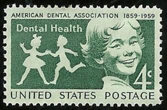 English: ADA/Dental Health on US postage stamp
