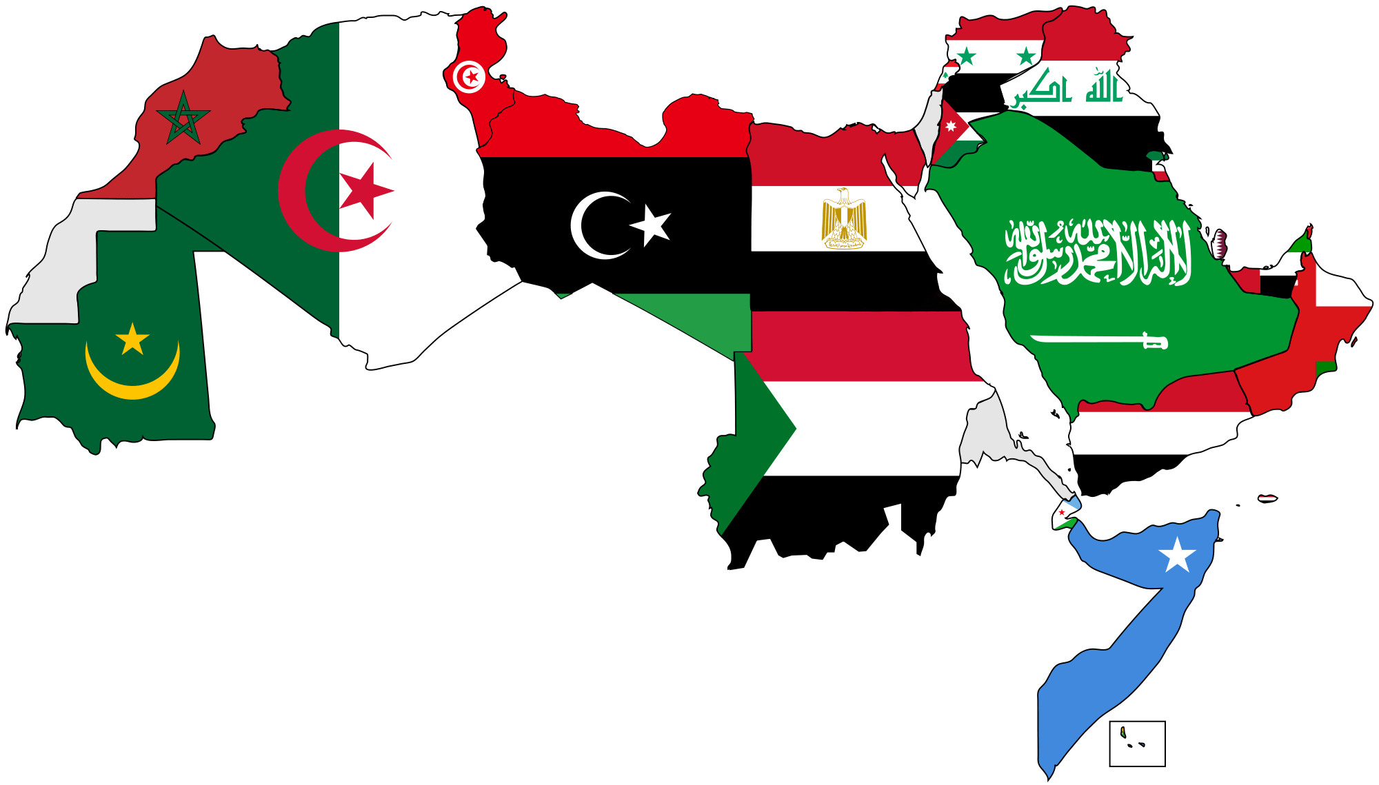 Flag map of Algeria.