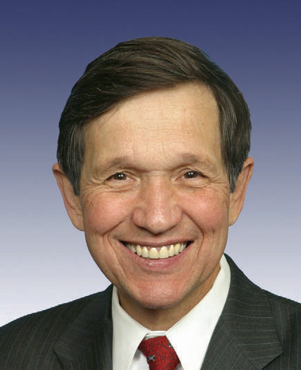 Congressman Dennis Kucinich (D - Ohio):  Source-Wikimedia Commons