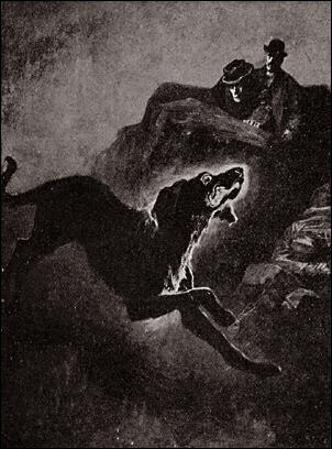 Illustration for the Hound of the Baskervilles by Sidney Paget (Wikimedia Commons)