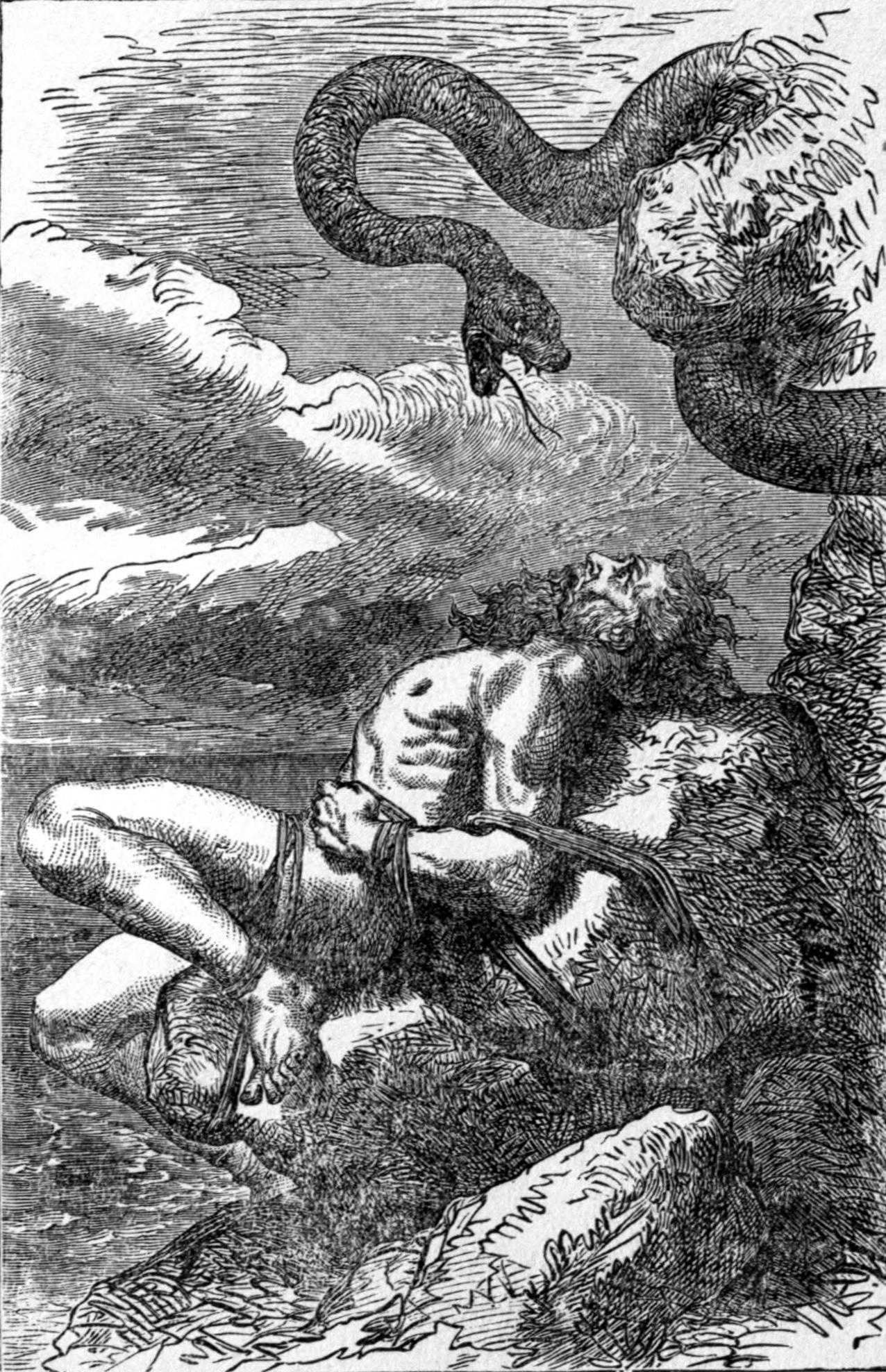 The punishment of Loki (Image: Louis Huard / Wikimedia Commons)