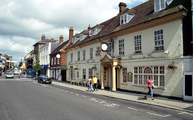 Alton, Hampshire. Population: 16,500.