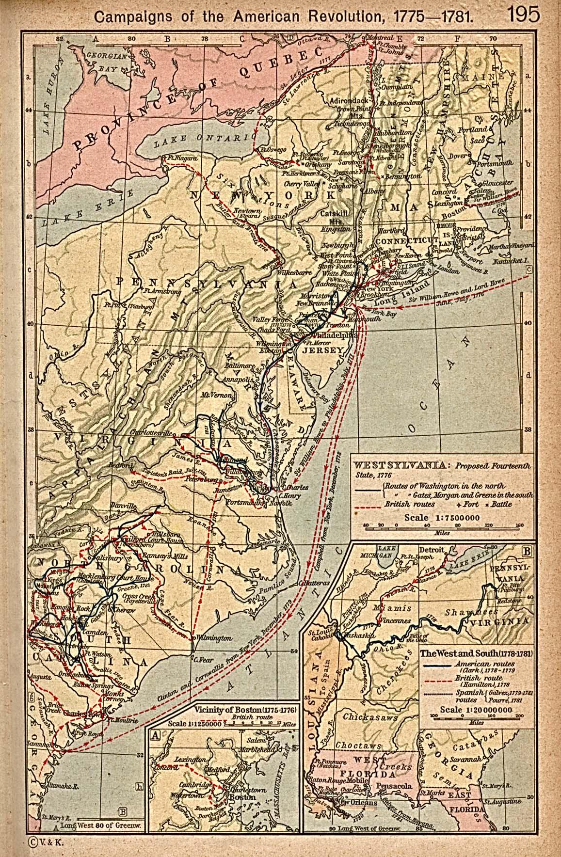 New York Map Revolutionary War