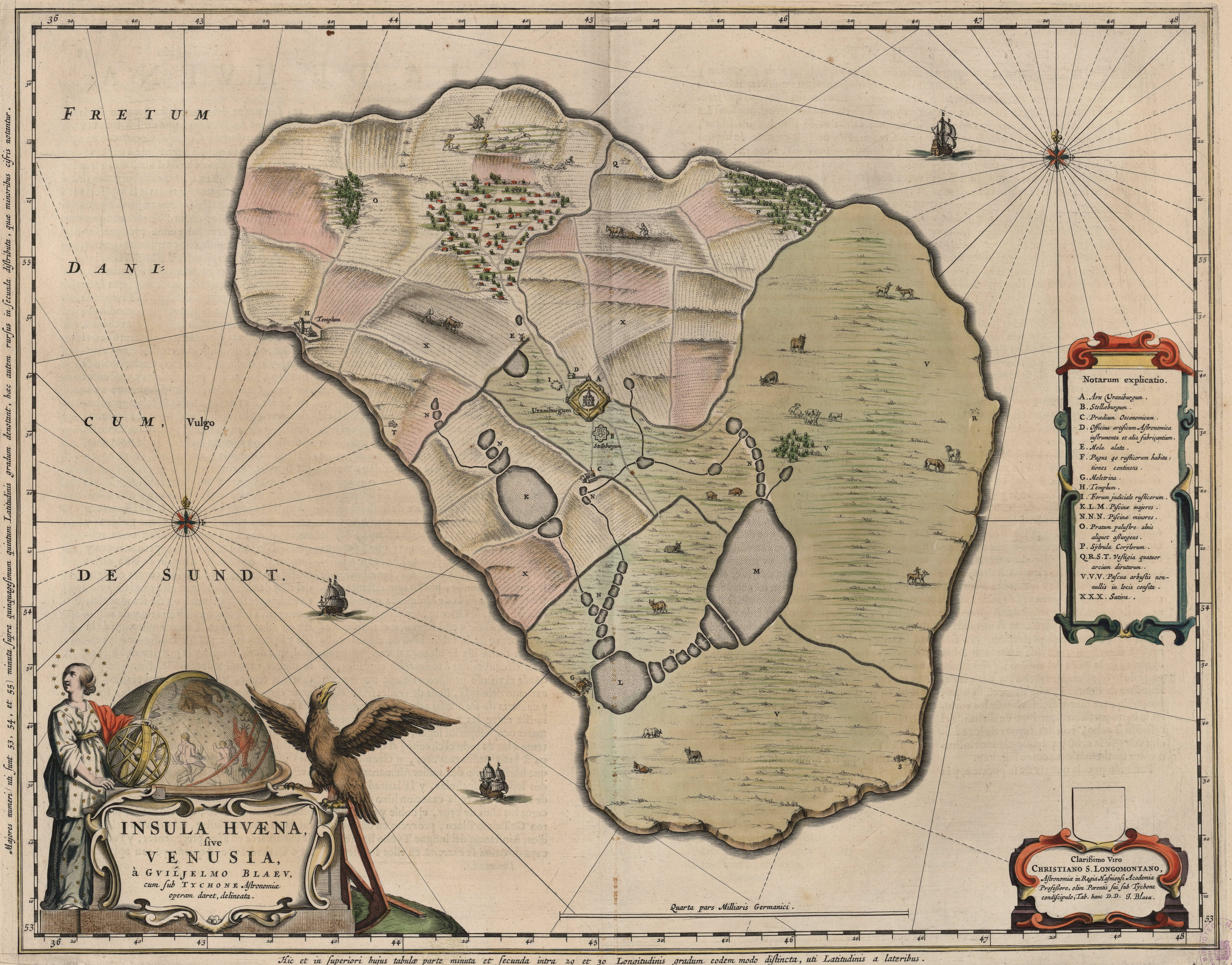 Map of Hven from the Blaeu Atlas 1663, based o...