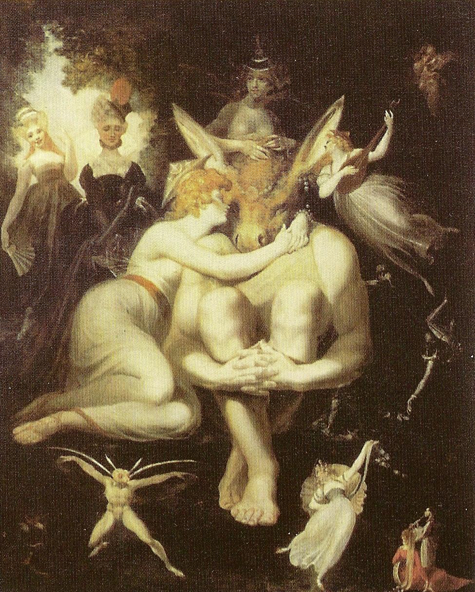 Titania with donkey-faced Bottom (Midsummer's night dream, Johann Heinrich Füssli)