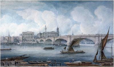 London Bridge by George Yates (1832)